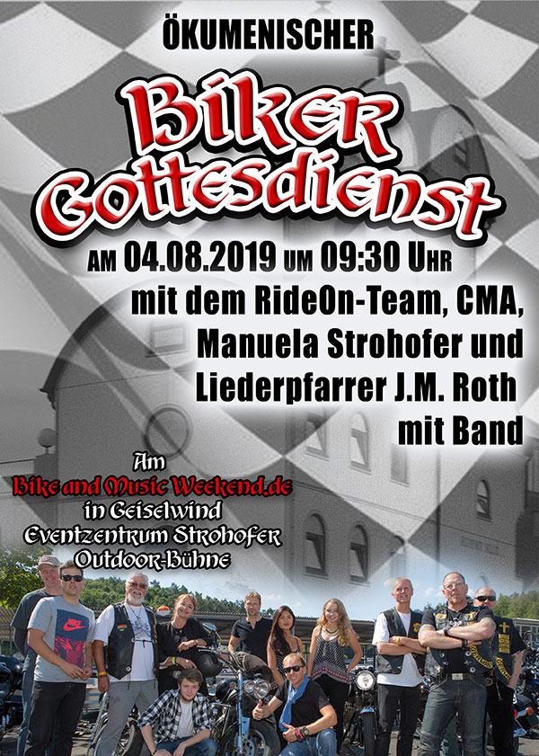 Biker Gottesdienst am Bike and Music Weekend